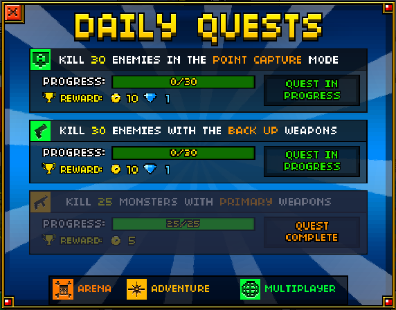 Daily Quest Pixel Gun 3D how to get coins gems In this post we will write about how to easily get coins in Pixel Gun 3D without using any kind of Pixel Gun 3D hack or Pixel Gun 3D coin generator.
